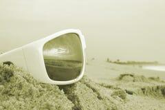 colorized odbić sunglass Fotografia Royalty Free