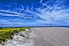 Colorized plaży scena Zdjęcie Stock