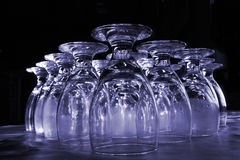 Colorized water glasses royalty free stock image