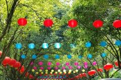 Colorizedlantaarns Stock Foto