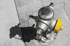 Colorkey of an american fireplug hydrant Stock Photography