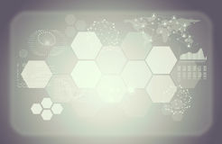 Colorless abstract background with graphical Stock Image