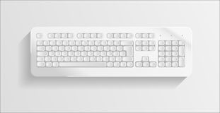 Colorless keyboard on grey background. Stock Images