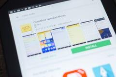 ColorNote Notepad Zauważa ikonę na liście mobilni apps Ryazan Rosja, Kwiecień - 19, 2018 - Zdjęcia Stock