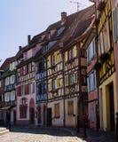 Colorofulhuizen in Colmar, Elsace, Frankrijk Stock Foto's
