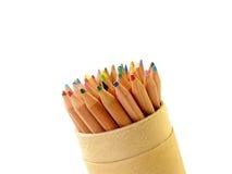 Colorpencils peut dedans Photographie stock