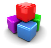 Colorrful cubes Royalty Free Stock Images