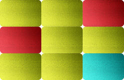 Colors. Green, blue and red dynamic squares. Abstract illustration Royalty Free Stock Photo
