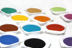 Colors. Different colors on white background Royalty Free Stock Photography