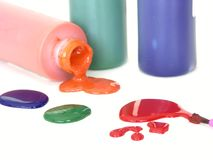 Colors#2. Colors and spilled paint Royalty Free Stock Images