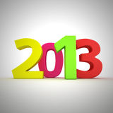 Colors of 2013. Digits 2013 written by multicolored letters Royalty Free Stock Photo