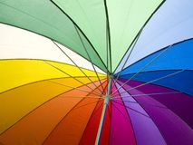 Colors. An open umbrella to show the colors of light stock image