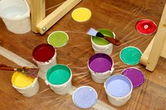 Colors. Many colors for the painting Stock Photos
