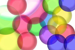 Colors. Color transparent ball shapes royalty free illustration
