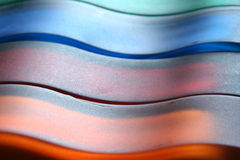 Colors. Wave of colors in the glass royalty free stock photos
