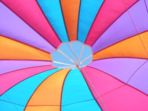 Colors. Properly arranged colors in the middle of the parachute cloth Royalty Free Stock Photography