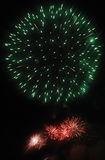Colors. A fireworks is in nightly sky Royalty Free Stock Photo