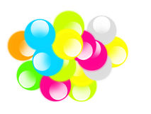 Colors. The colourful globs with white background royalty free illustration