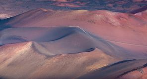 Colors And Shadows Of Haleakala. Stock Photography
