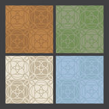 4_colors_antique_patterns 库存例证