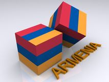 Colors of Armenia Royalty Free Stock Image