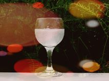 Colors around the wine glass royalty free stock photo