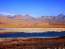 Colors of Atacama. Landscape of the Atacama desert in Chile royalty free stock photo