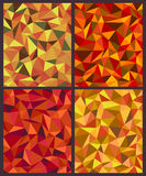Colors of autumn. Four backgrounds with colorful triangles.Colors of autumn Royalty Free Stock Photography