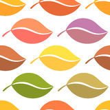 Colors of autumn leaves. Seamless vector pattern Stock Photo