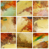 Colors background. Collage of several canvas with brushstrokes of different colors Stock Photo