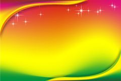 Colors background. Pink light to orange to yellow   to green screen & two corner color Stock Photo