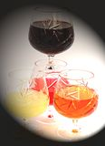 Colors of beverage. In still life Stock Images