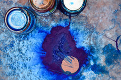 The colors of blue in different shades Royalty Free Stock Photo