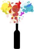 Colors bottle Stock Images