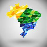 The colors of the Brazilian flag. Stock Images