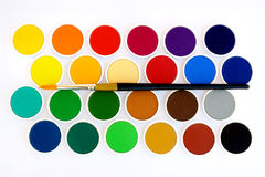 Colors with brush Royalty Free Stock Photo