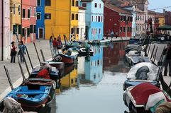 Colors of burano 2 Stock Photos