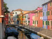 Colors of Burano Island Stock Photography