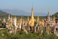 Colors of Burma (Myanmar). Ancient Buddhist temples in the area of the the famous Inle lake in Burma (Myanmar royalty free stock photography
