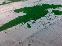 Colors on canvas. Painters canvas drenched in color stock image