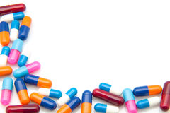 Colors capsules Royalty Free Stock Photo