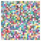 Vector color palette. 729 different colors stock illustration