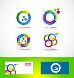 Colors circle logo icon set Stock Images