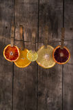 The colors of the citrus fruit Royalty Free Stock Images