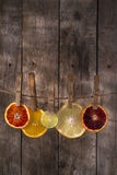 The colors of the citrus fruit Stock Image