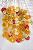 The colors of citrus fruits Stock Photography