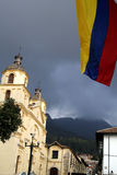 Colors from Colombia. Colombian Flag. Church. Bogota. Colombia Stock Photos