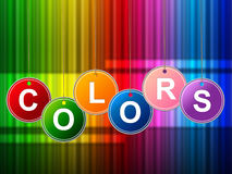 Colors Color Shows Painted Colourful And Multicolored Royalty Free Stock Photo