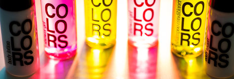 COLORS. Colored recipients with back light Royalty Free Stock Image