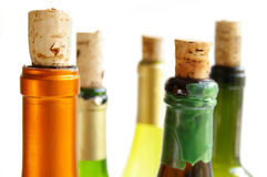 Colors and corks royalty free stock photography